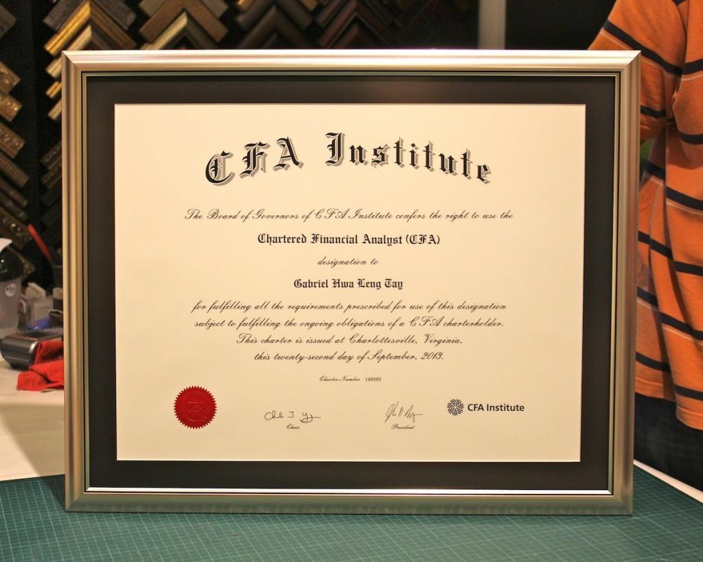 Сертификат CFA